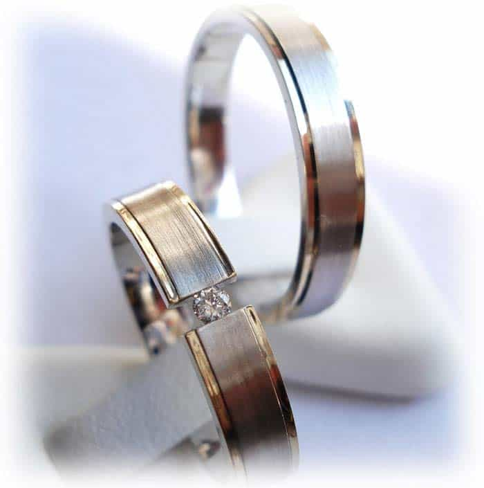 Cartier Eheringe christian bauer wedding rings 14 carat white