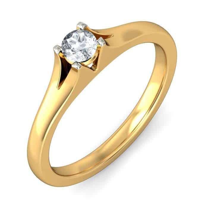 verlobungsring partnerring im648 1 diamant 0 20k gelbgold mattiert trauringe gold. Black Bedroom Furniture Sets. Home Design Ideas