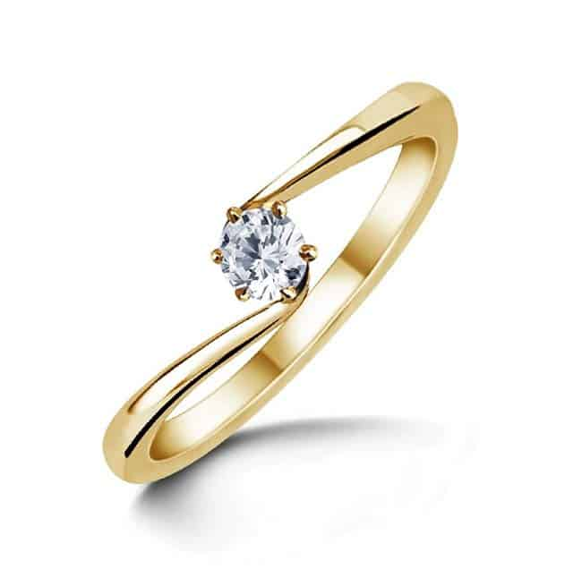 verlobungsring partnerring im666 1 diamant 0 25ct gelbgold glanzpoliert trauringe gold. Black Bedroom Furniture Sets. Home Design Ideas