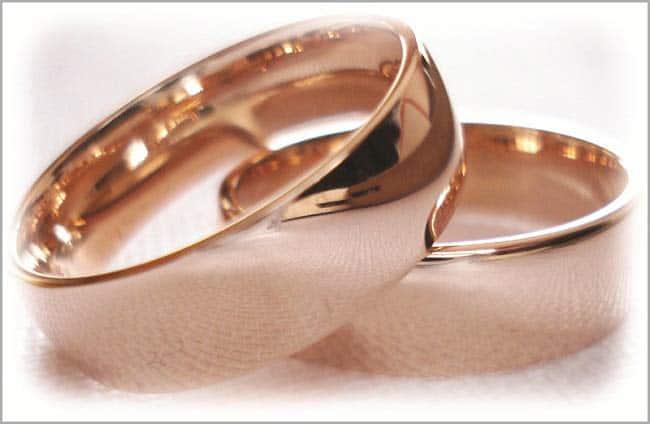 Eheringe rosegold  Trauringe/Eheringe IM231, klassisch, Rotgold, massiv - Trauringe Gold