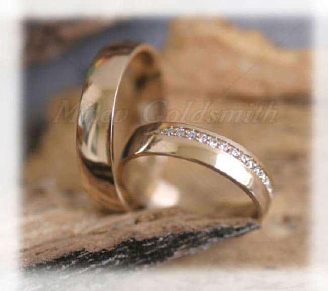 Eheringe gold mit 5 diamanten  Trauringe/Eheringe IM272, 18 Diamanten - 0,18K, Gelbgold
