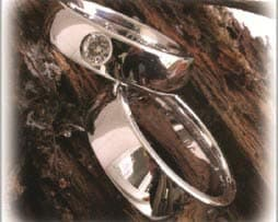 IM258 Trauringe Eheringe Weissgold poliert diamant
