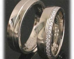 TrauringeEheringe IM235, ca. 50 Diamanten - 0,50K, Brillantkranz, Weißgold oder Platin 600950