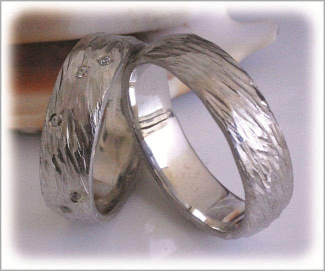 Ausgefallene diamantringe  Trauringe/Eheringe IM298, 12 Diamanten - 0,18K, Weißgold oder