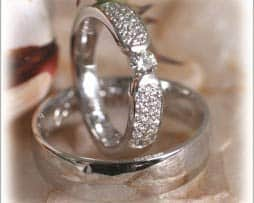IM281 eheringe orient 0,20ct diamant weissgold poliert