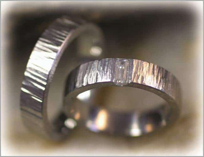 IM293 ausgefallene eheringe baguette diamant weissgold oder platin