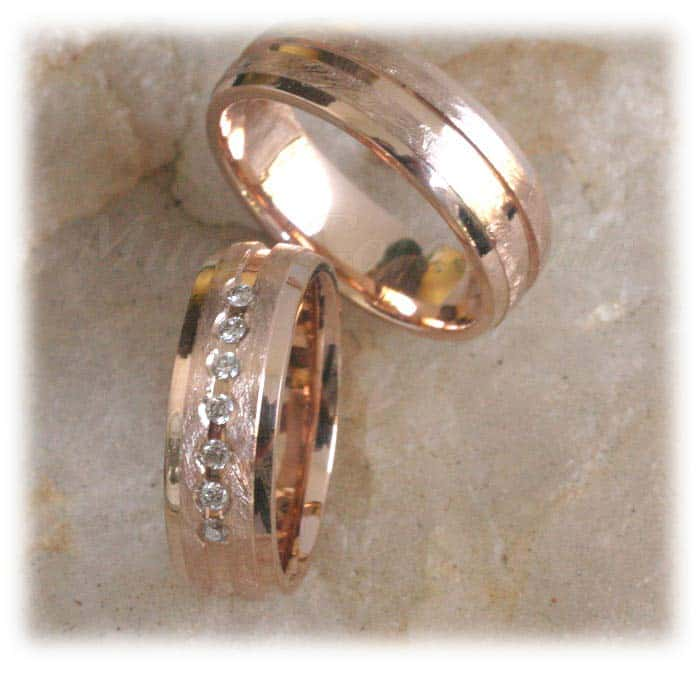 Permalink to Mens Rose Gold Diamond Wedding Band