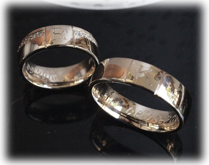 Eheringe gold mit 5 diamanten  Trauringe/Eheringe IM515, 5 Diamanten - 0,05K, Weißgold oder ...