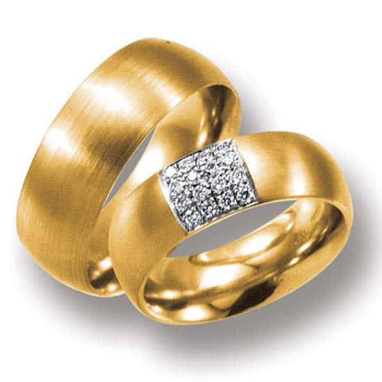 Gelbgold  Trauringe/Eheringe IM308, 16 Diamanten - 0,24K, Gelbgold 585/750 ...