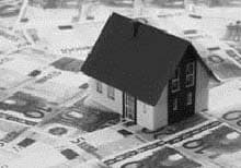Model house on Euro bank notes