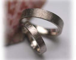 IM342 eheringe klassisch weissgold eismatt ohne diamanten