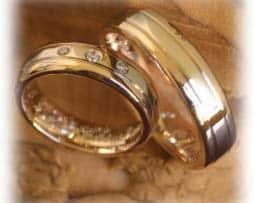 IM332 eheringe bicolor gelbgold weissgold mit diamanten I