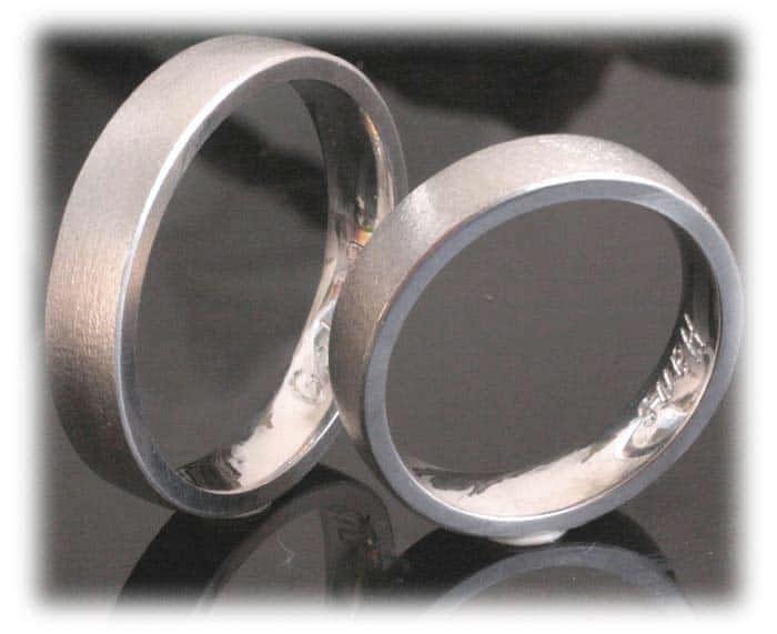 Trauringe/Eheringe IM365, klassisch ohne Diamanten, Weißgold oder ...