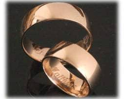 IM370 klassische eheringe aus rotgold poliert ohne diamanten