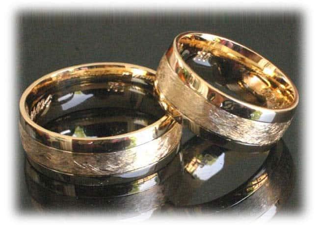 Eheringe gold eismatt  Klassische Trauringe/Eheringe IM371, ohne Diamanten Gelbgold eismatt