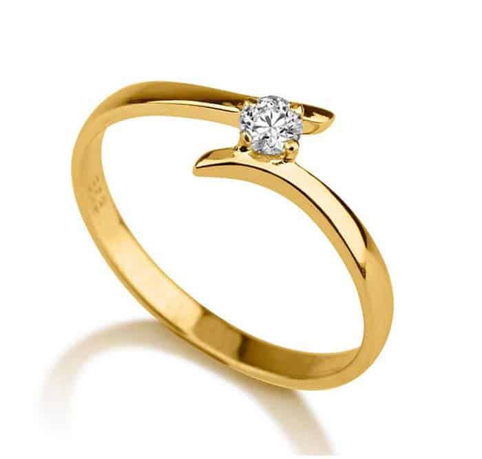 verlobungsring partnerring im673 1 diamant 0 15ct gelbgold 585 glanzpoliert trauringe gold. Black Bedroom Furniture Sets. Home Design Ideas