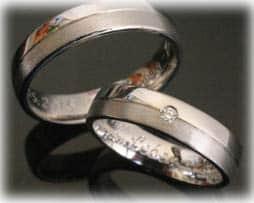 Trauringe Eheringe IM383 aus Weissgold oder Platin 0,03ct. Diamant, matt poliert