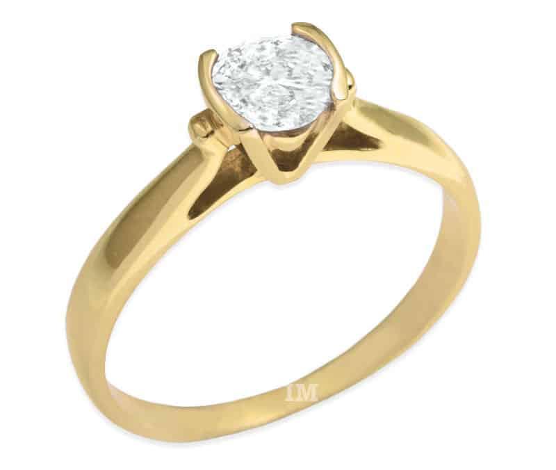 verlobungsring im679 ausgefallen 1 diamant 0 45ct gelbgold sandmatt. Black Bedroom Furniture Sets. Home Design Ideas